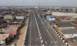 The Lagos State Govt opens Pen Cinema Flyover at Agege